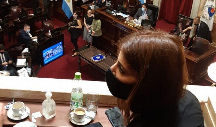 FOTO: Juró Ricardo Guerra, el reemplazante de Menem en el Senado.