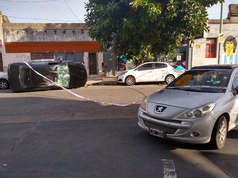 FOTO: Chocó, volcó y se negó a ser auxiliada por la Policía