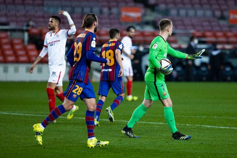 FOTO: Barcelona se enfrenta al Sevilla por las semifinales de la Copa del Rey.