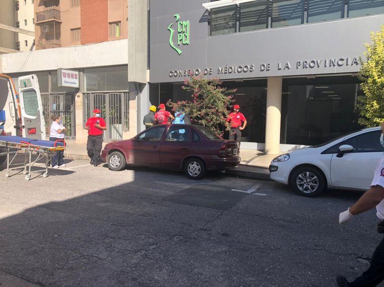 AUDIO: Simulacro de explosión e incendio en el Consejo de Médicos de la Provincia de Córdoba