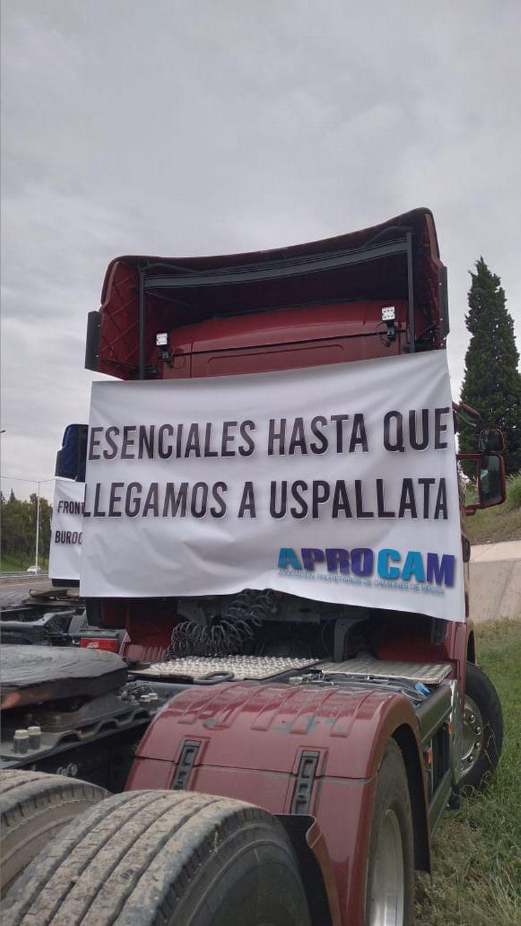 AUDIO: Camioneros mendocinos protestan por demoras y negligencias