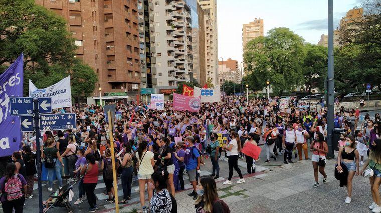 FOTO: Masiva movilización por el Día de la Mujer en Córdoba.