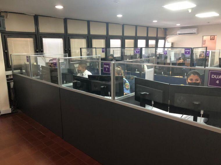 FOTO: Centro de monitoreo de la Policía de Córdoba