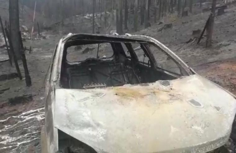 FOTO: El fuego arrasó la zona de Las Golondrinas en Chubut.