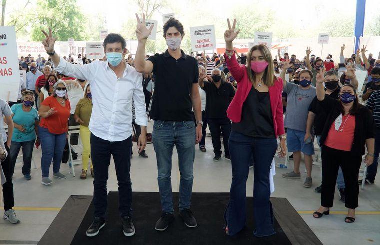 FOTO: Posse y Lousteau cerraron la campaña de la interna de la UCR.