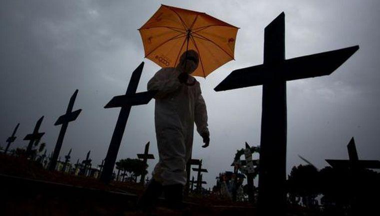 FOTO: Brasil es el segundo país con mayor cantidad de muertos por coronavirus.