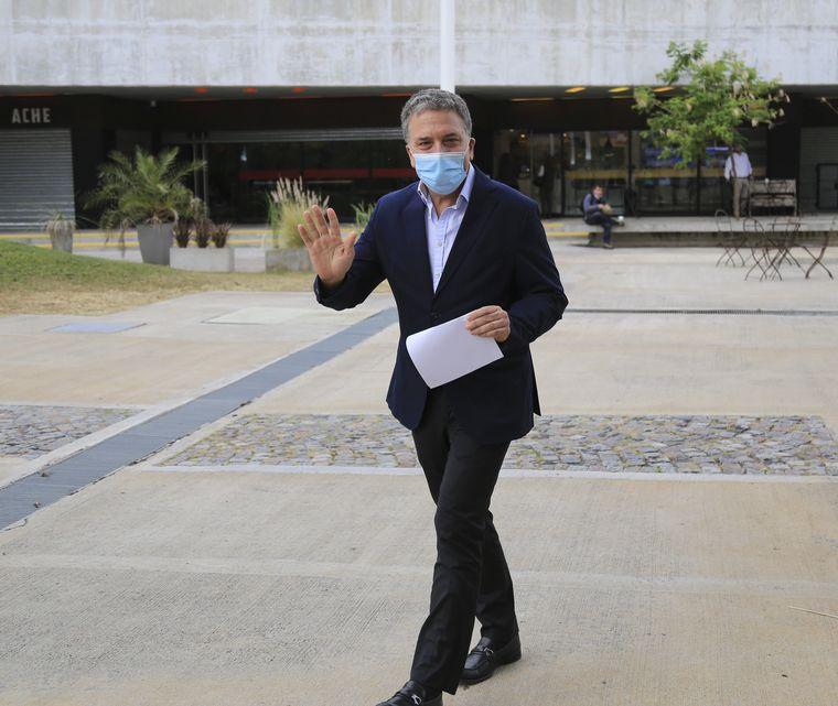 FOTO: Marcos Peña, en la presentación del libro de Mauricio Macri.