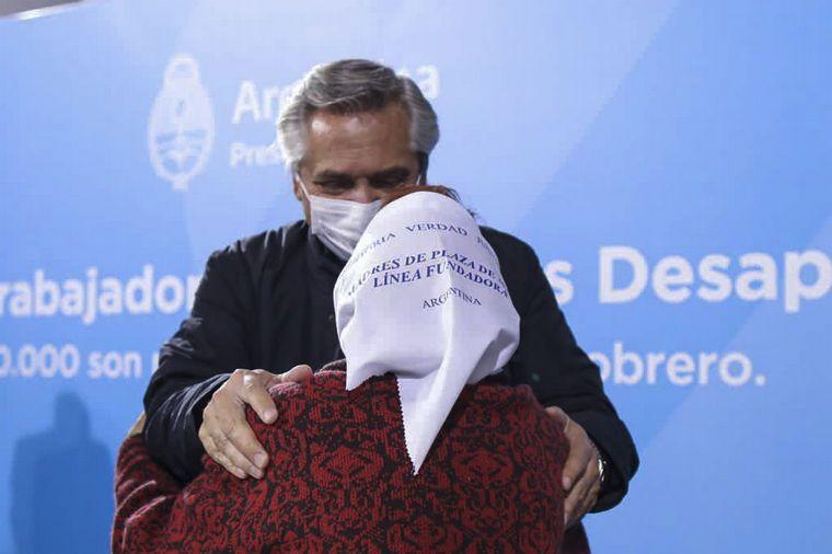 FOTO: El presidente Alberto Fernández participó de un acto en la exESMA por 24 de marzo