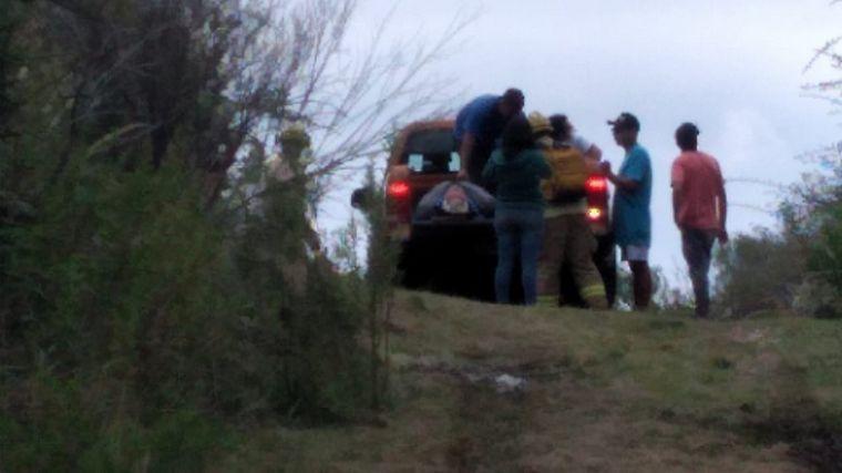 FOTO: Una pareja cayó de tres metros en la aerosilla de Los Cocos