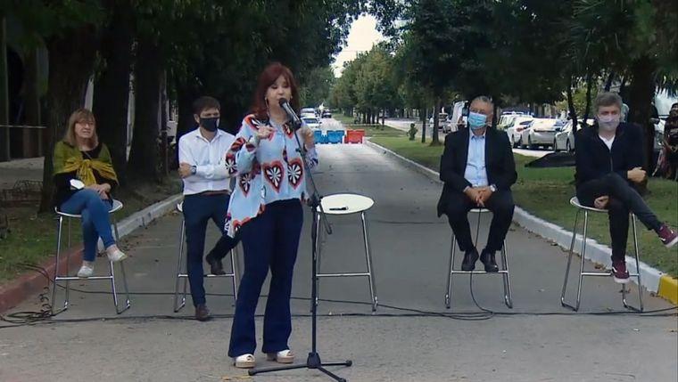 FOTO: Cristina criticó a Macri en el acto por el Día de la Memoria.