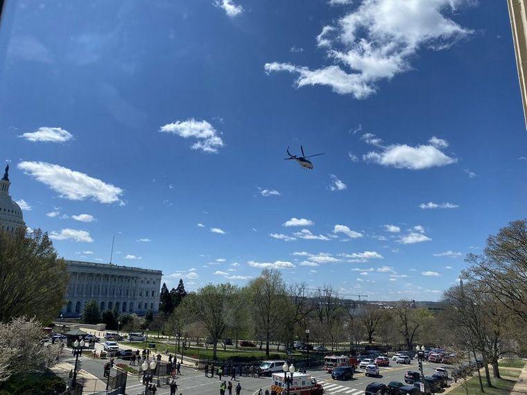 AUDIO: Cierran el Capitolio por un auto que embistió una barricada