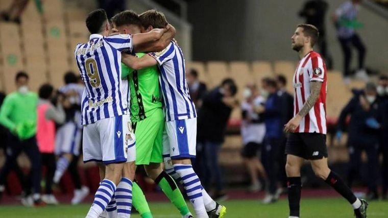 FOTO: Real Sociedad gritó campeón al vencer en la final al Bilbao