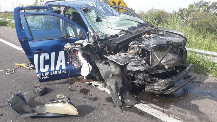 AUDIO: Viajaba en contramano por la autopista y provocó un choque