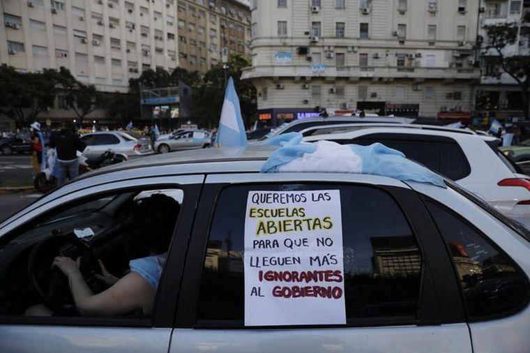 FOTO: Manifestantes en Buenos Aires (Foto: Hernán Zenteno).