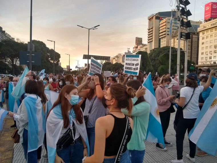 FOTO: Manifestantes en Buenos Aires