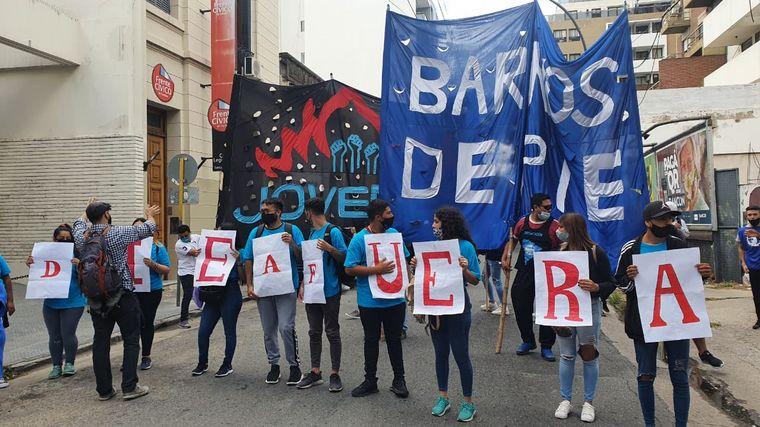 FOTO: Protesta de Barrios de Pie en Córdoba