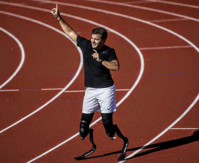 FOTO: Pablo Giesenow recuperó sus prótesis