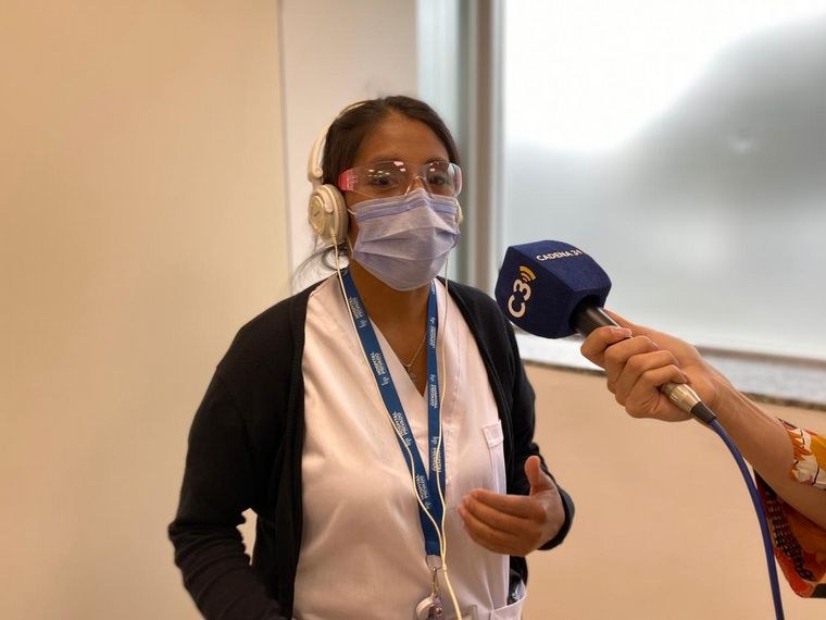 FOTO: Héroes de la pandemia: Hoy, Rosario Rimari, enfermera del Hospital Privado.