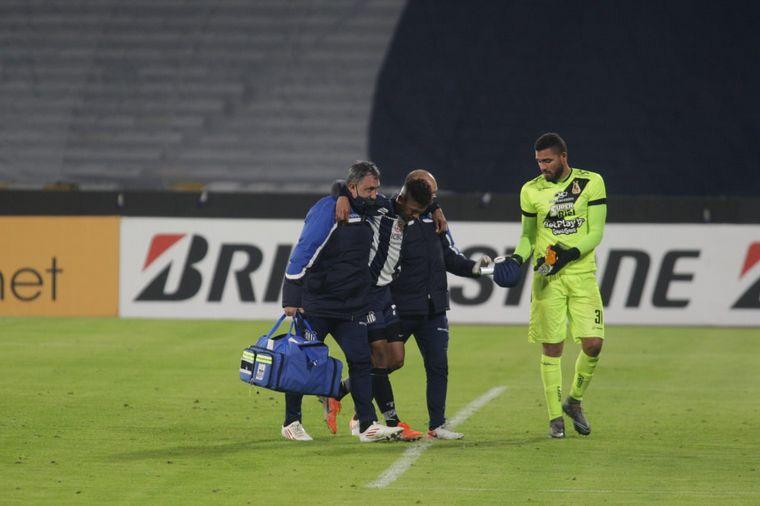 FOTO: Diego Valoyes se lesionó en el partido ante Deportes Tolima.