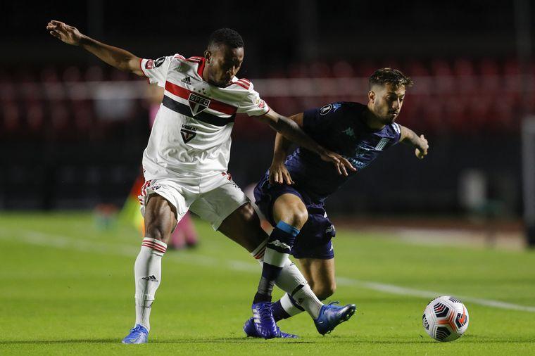 FOTO: Racing Club se enfrentó ante San Pablo en el estadio Morumbí