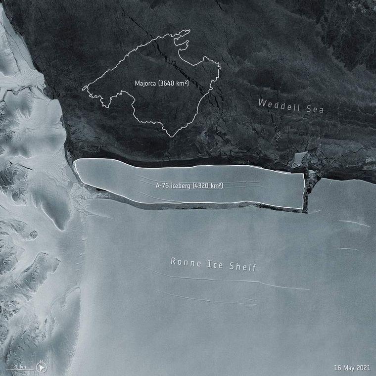 FOTO: Se separó de la Antártida el iceberg más grande del mundo (Foto ilustrativa)