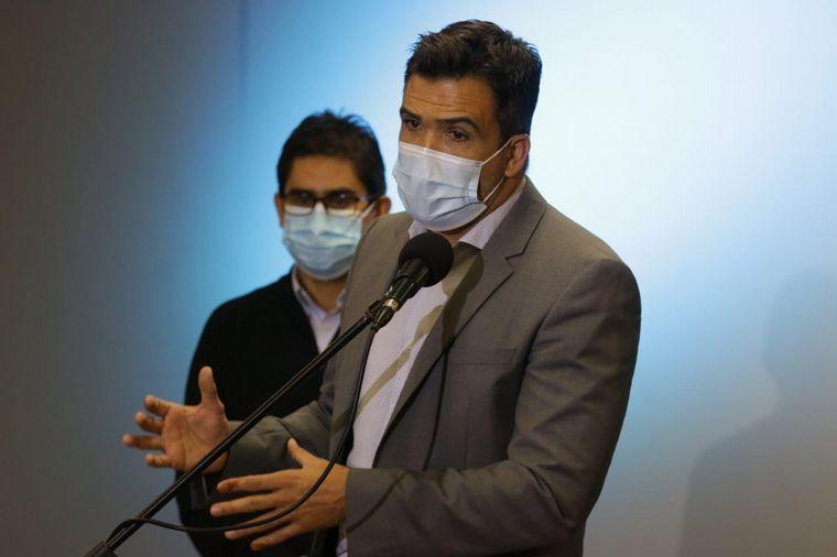 FOTO: Torres Lima y Cardozo brindaron una conferencia de prensa en el Centro Cívico.