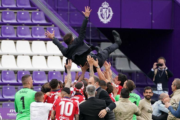 FOTO: Luis Suárez se emocionó al salir campeón con el Atlético de Madrid