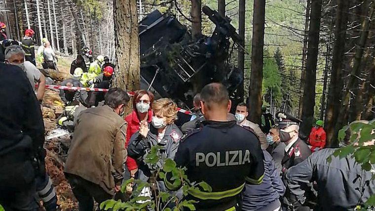FOTO: Tragedia en un teleférico de Italia.