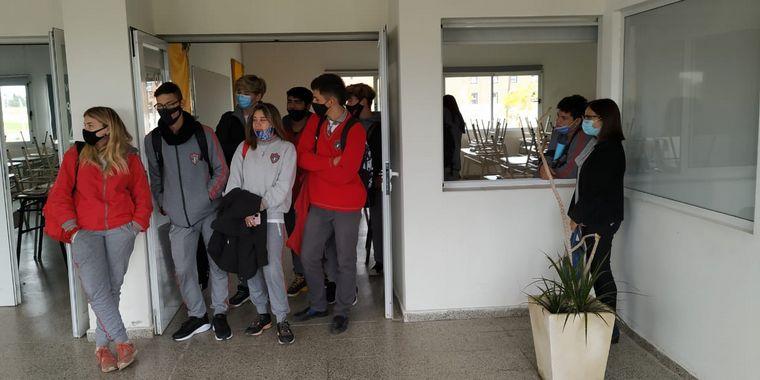 FOTO: Alumnos del Instituto Jorge Vocos Lescano de Río Segundo