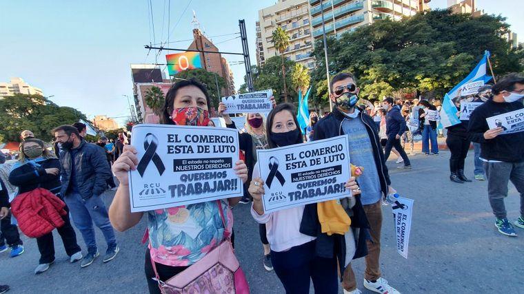 FOTO: Protestas en Córdoba contra el Gobierno nacional.