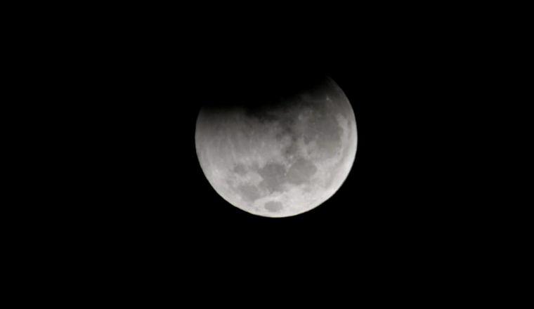 FOTO: Así se veía el eclipse antes de las 7 en Córdoba.