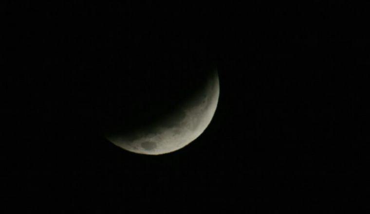 FOTO: Así se veía el eclipse a las 7.40 en Córdoba.
