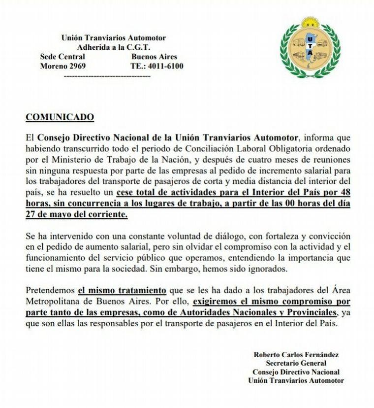 Paro de colectivos en Neuquén complicaría a esenciales