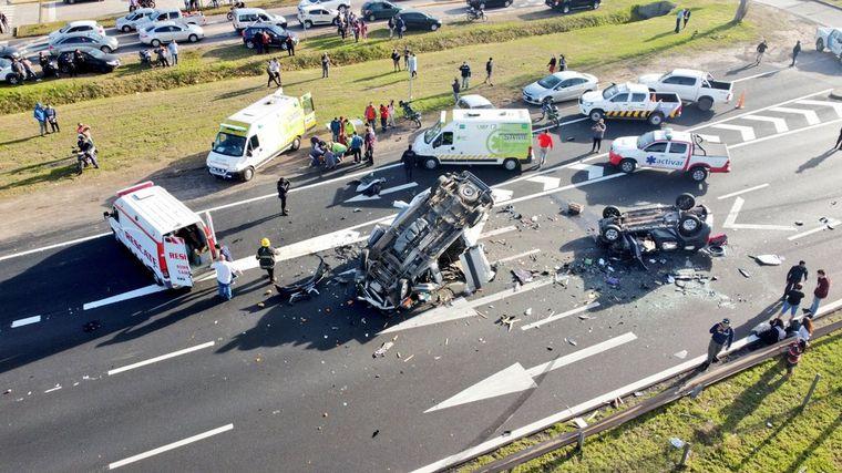 FOTO: Siniestro fatal en Panamericana: un muerto y seis heridos