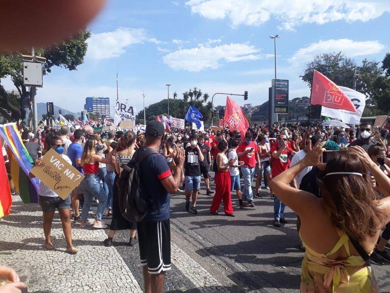 FOTO: Protestas en todo Brasil contra el gobierno de Bolsonaro