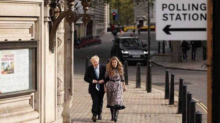 FOTO: Boris Johnson y Carrie Symonds