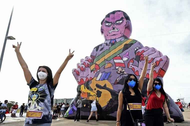 FOTO: Protestas contra Bolsonaro en Brasil