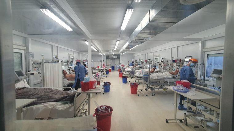 FOTO: El Hospital Rawson alcanzó el 100% de ocupación de camas críticas.