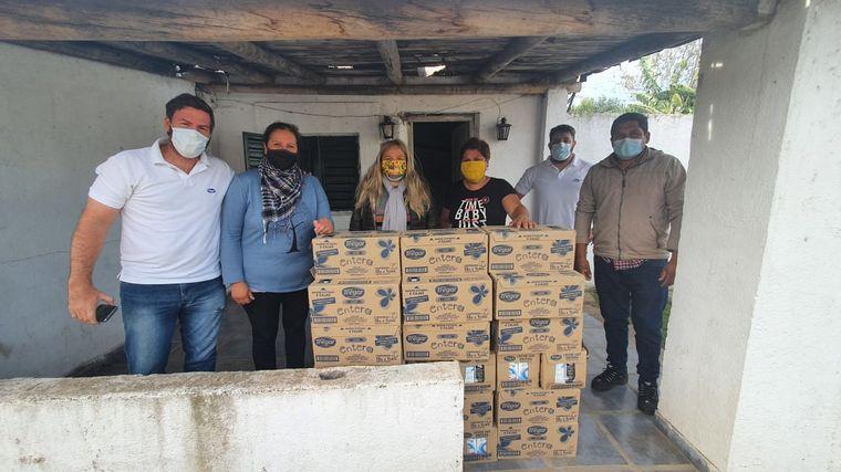 FOTO: Los Girasoles, otro merendero beneficiado por la donación de Cadena 3 y Tregar.