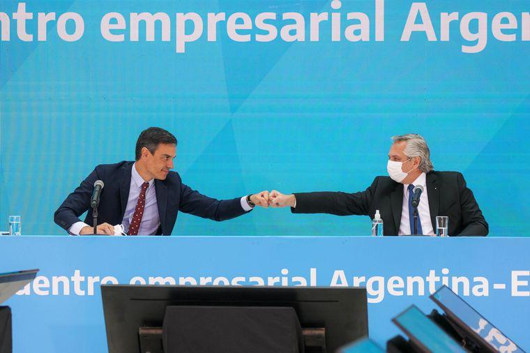 AUDIO: Pedro Sánchez visitó a Alberto Fernández y ratificó su apoyo al país ante el FMI