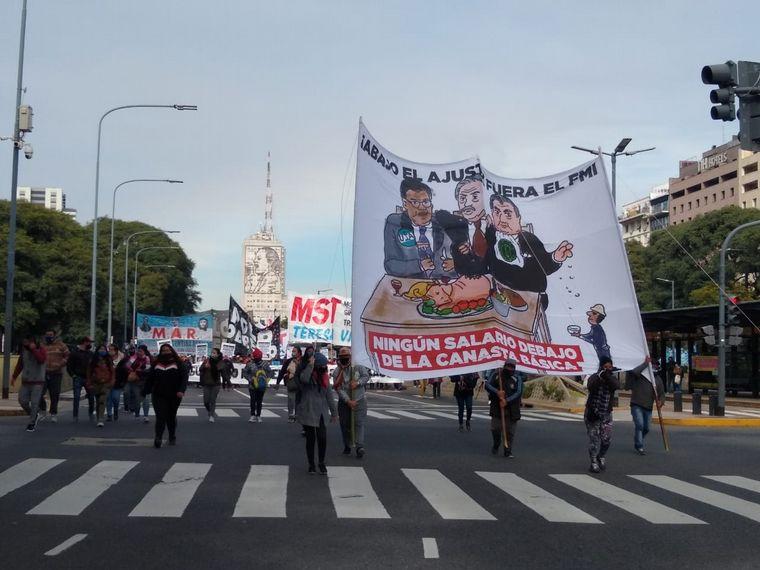 FOTO: Una nueva jornada tensa en CABA por numerosas protestas
