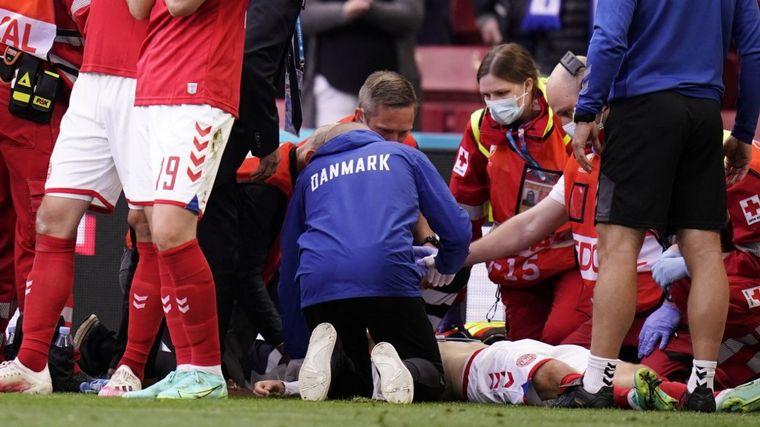 FOTO: Aseguran que Christian Eriksen estuvo un instante muerto.
