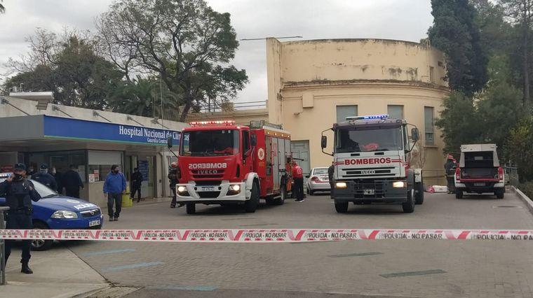 AUDIO: Un incendio afectó una sala Covid del Clínicas: un paciente de 75 años terminó herido
