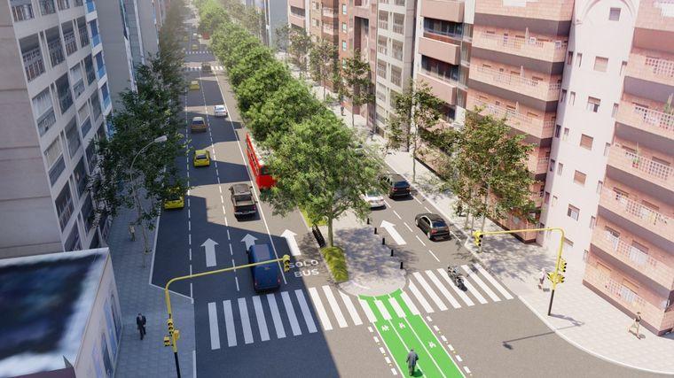 FOTO: Se extenderá el cantero central del boulevard Chacabuco
