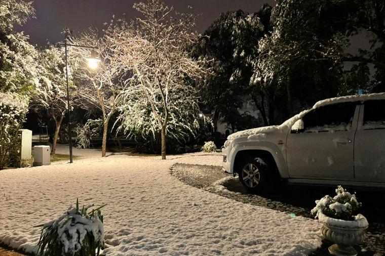 FOTO: Postales de la Nieve en Santa María de Punilla.