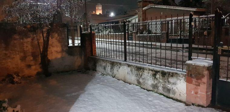 FOTO: Postales de la nieve en la zona de Malagueño.