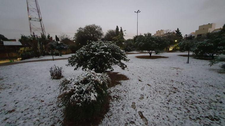 FOTO: Postales de la nieve en el Parque Autóctono.