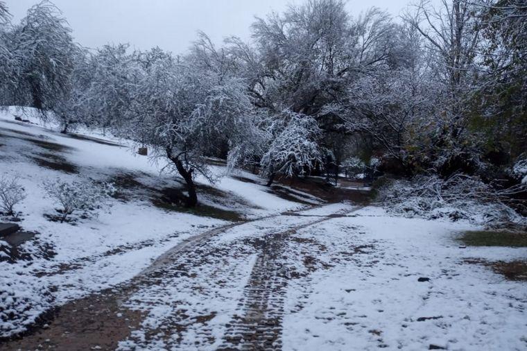 FOTO: Nieve en Cosquín