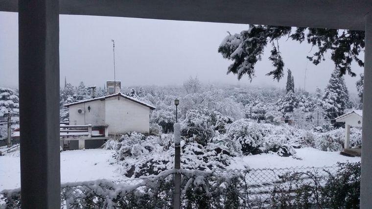 FOTO: Nieve en Mirador del Lago
