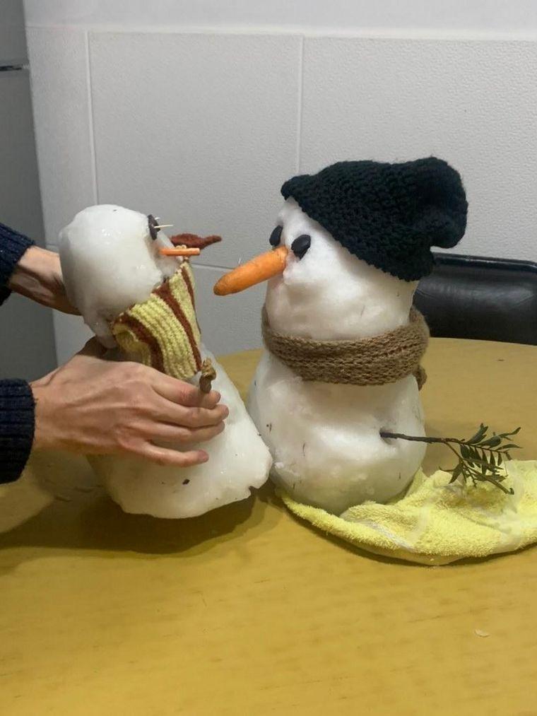 FOTO: Tito y Blanca, los muñecos de nieve